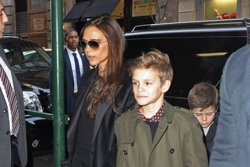 Romeo Beckham David & Victoria Beckham Lunch In NYC