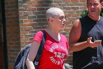 Rose McGowan Rose McGowan Out And About In NYC With A Friend