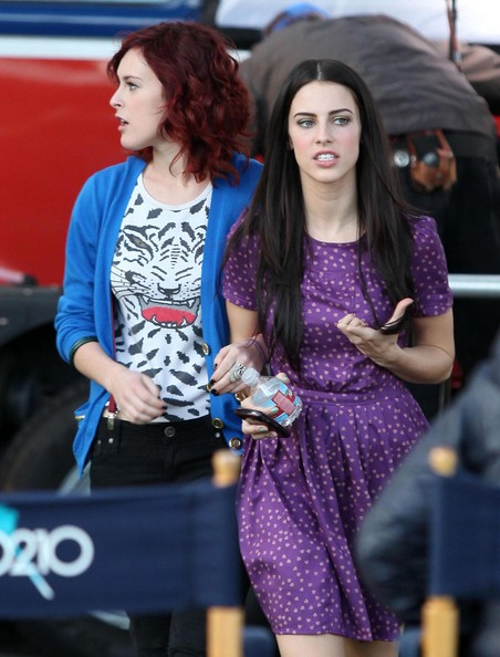 Rumer Willis And Jessica Lowndes On The Set Of '90210'