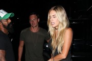 "Olympic swimmer Ryan Lochte enjoys a night out at The Nice Guy restaurant in West Hollywood, California with his model girlfriend Kayla Rae Reid on August 31, 2016. Kayla has stood by her man after his controversy in Rio and recently told reporters, ""I will always support him no matter what."""