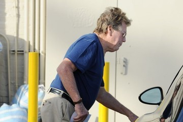 Ryan O'Neal Ryan O'Neal and His Son Go Out for Lunch