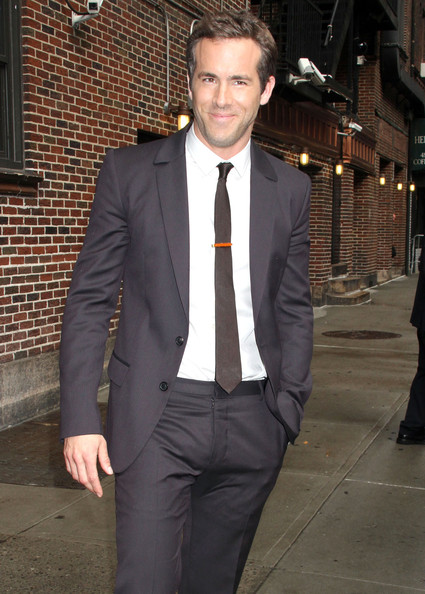 Actor Ryan Reynolds at the 'Late Show with David Letterman' in New York City, NY.