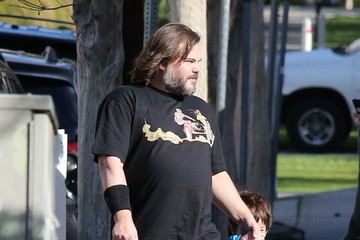 Samuel Black Jack Black Takes his Boys to School