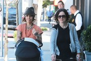 Sara Gilbert and Linda Perry Out for a Stroll