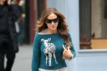 Sarah Jessica Parker Sarah Jessica Parker Walks Her Girls to School