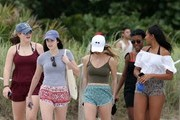 President Barack Obama's youngest daughter Sasha Obama is seen in Miami, Florida on vacation with some of her girl friends.