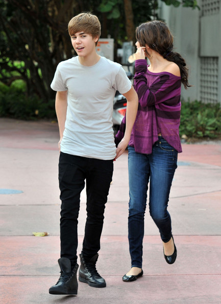 Selena Gomez Justin Bieber and rumored girlfriend Selena Gomez tried to go out for a romantic stroll in Miami today before his concert, but were met by a swarm of paparazzi. Justin and Selena have been denying their romance since they were seen having breakfast together last week.