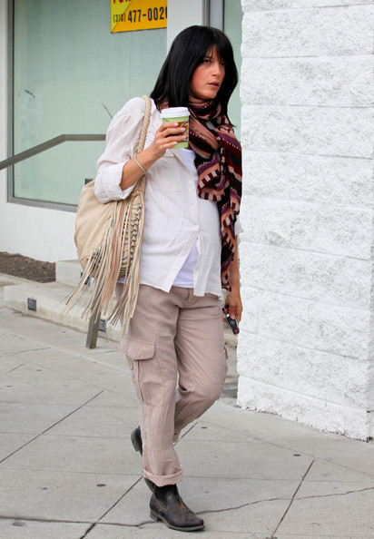 Selma Blair Pregnant actress Selma Blair leaves Urth Cafe in West Hollywood.
