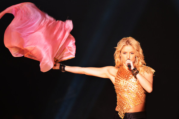 Shakira Singer Shakira performs live on stage during her concert at the Olympiahalle in Munich, Germany.