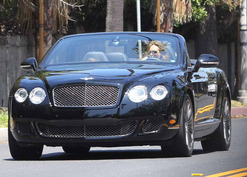sharon stone cruising her convertible bentley in beverly hills zimbio. Cars Review. Best American Auto & Cars Review