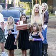 Isabella Lamas Shauna Sand Takes Her Daughters To The Mr. Bones Pumpkin Patch