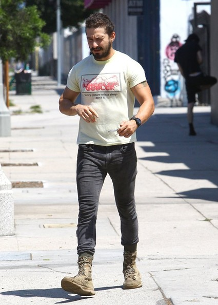 Shia LaBeouf Gets His Workout In - Zimbio