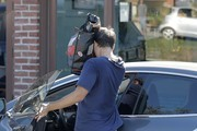 Shy actor Tobey Maguire  is spotted leaving the gym covered in sweat after enjoying a workout in Brentwood, California on November 14, 2016. Tobey is recently single after calling it quits with his wife of 9 years Jennifer Meyer.