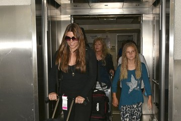 Sibi Blazic Christian Bale & Family Land at LAX Airport