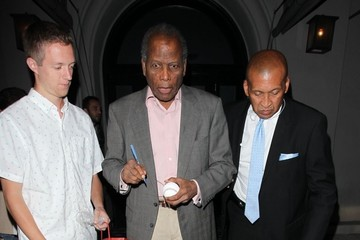 Sidney Poitier Celebrities Out For Dinner At Craig's