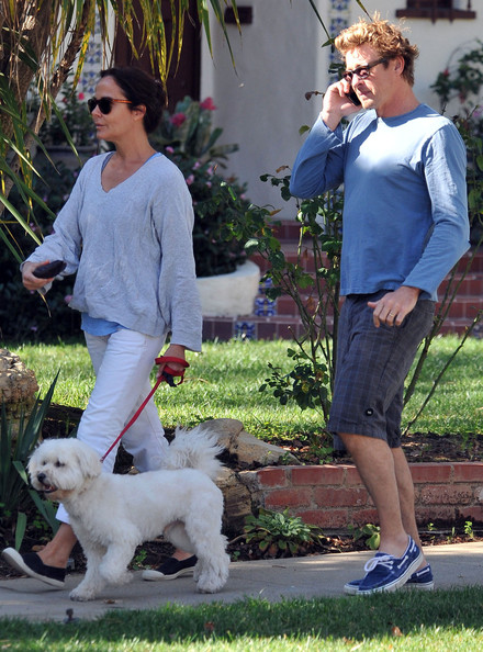 Eddie Baker (actor) Wallpapers Actor Simon Baker and his wife Rebecca Rigg out walking their dog in