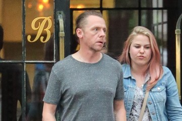 Simon Pegg Simon Pegg Is Seen Leaving Hotel in NYC