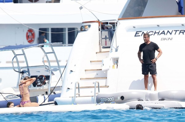 Sylvester Stallone Vacations With His Family in St Tropez