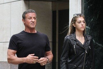 Sistine Stallone Sylvester Stallone and His Daughter Sistine Step Out in New York