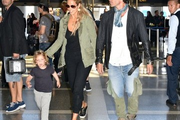 Sky Lauren Couple Elizabeth Berkley and Greg Lauren Catch a Flight at LAX