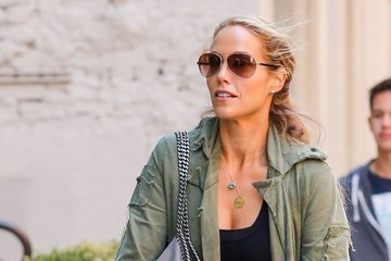 Sky Lauren Elizabeth Berkley Takes a Walk with Her Family