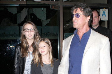 Sophia Stallone Sylvester Stallone And Family Out For Dinner In Beverly Hills