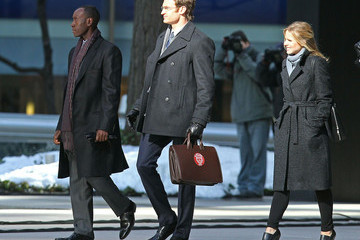 Don Cheadle Josh Lawson Stars On The Set 'House Of Lies' In New York City