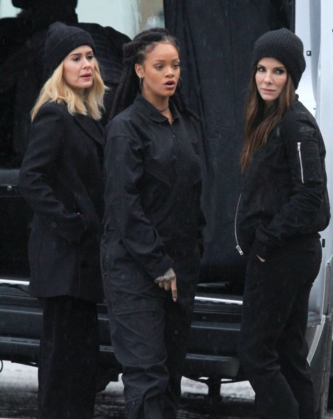 Stars Perform on the Set of 'Ocean's Eight' in NYC
