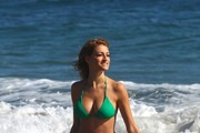 Model Stephanie Cook shows off her bikini body while enjoying a day on the beach in Malibu, California on September 10, 2013.
