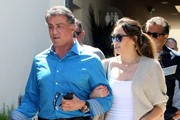 Actor Sylvester Stallone and his daughter Sophia Rose spotted out for lunch in Beverly Hills, California on April 18, 2015. After lunch the pair headed over to the Wild Card Boxing Gym to visit Manny Pacquiao and wish him luck on his upcoming megafight with Floyd Mayweather Jr. on May 2nd.