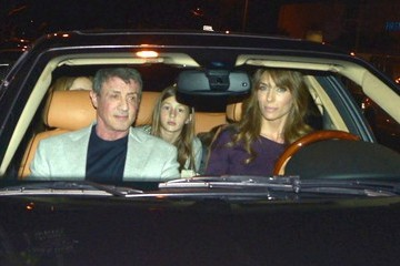 Sylvester Stallone Scarlet Stallone Sylvester Stallone And Family Out For Dinner At Boa Steakhouse