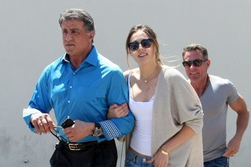 Sylvester Stallone Sophia Rose Stallone Sylvester Stallone & Daughter Out For Lunch In Beverly Hills