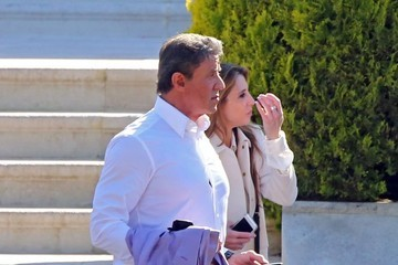 Sylvester Stallone Sly Stallone and Jennifer Flavin Leave Hotel in Cannes