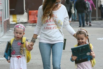 Tabitha Broderick Sarah Jessica Parker Walks with Her Girls