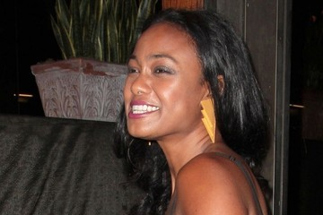 Tatyana Ali Celebs Get Dinner at Madeo