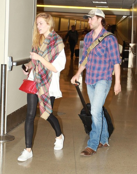 Brooklyn Decker and Taylor Kitsch at LAX