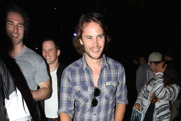 Taylor Kitsch Celebrities Go To LA Kings Game