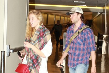 Taylor Kitsch Brooklyn Decker and Taylor Kitsch at LAX