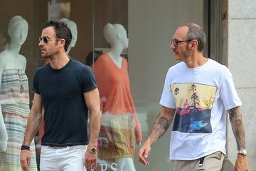 Terry Richardson Justin Theroux & Terry Richardson Spotted Out And About In NYC
