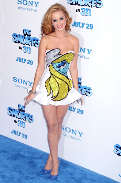 Katy+Perry in 'The Smurfs' New York Premiere