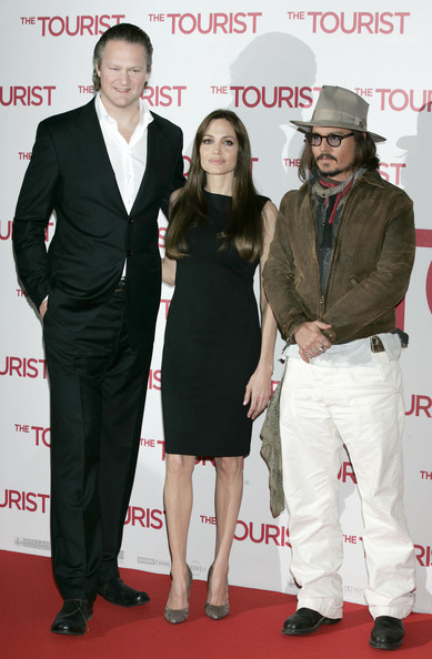 "Angelina Jolie and Johnny Depp attend the ""The Tourist"" photo call in Berlin, Germany."