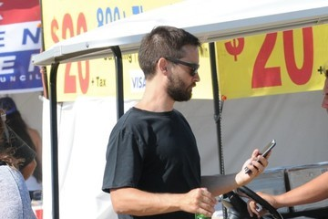Tobey Maguire Celebrities Attend the Chili Cook-Off in Malibu