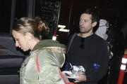 Tobey Maguire and his family enjoy Halloween festivities on October 31, 2016. It was the first appearance for the family after Maguire and his wife Jennifer Meyer announced they were splitting up.