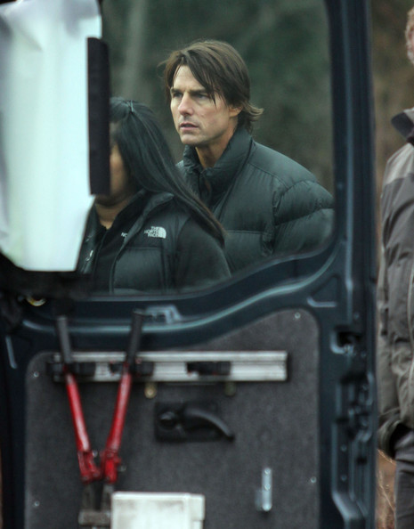 tom cruise mission impossible 4. Actor Tom Cruise on the set of
