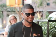 Usher Is All Smiles While Out in NYC