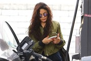 Vanessa Hudgens Stops for Gas in Studio City