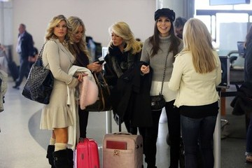 Vicki Gunvalson 'The Real Housewives Of Orange County' Departing On A Flight At LAX