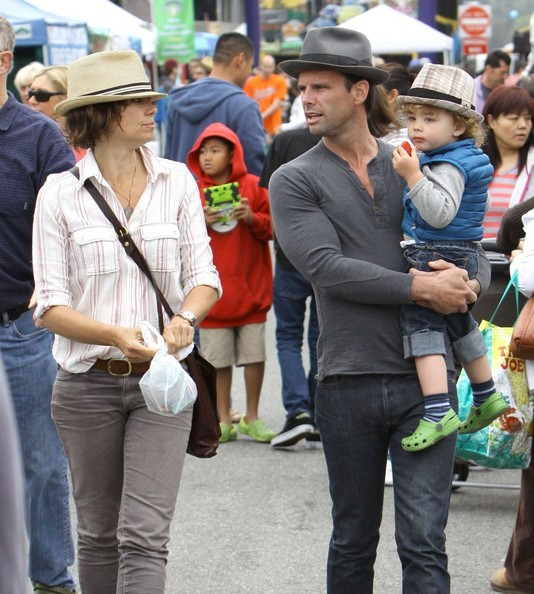 Walton Goggins and Nadia Cooners with their son
