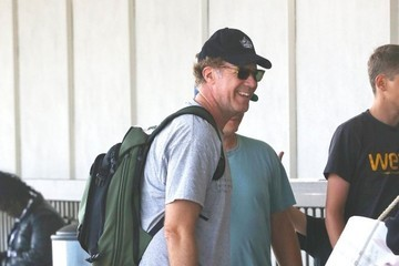 Will Ferrell Will Ferrell Catches A Flight With His Family