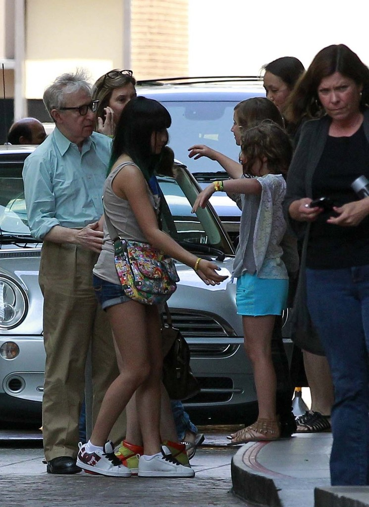 Woody Allen looks relaxed as he arrives in Barcelona with